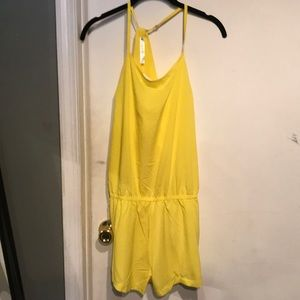 Fabletics yellow romper NWT